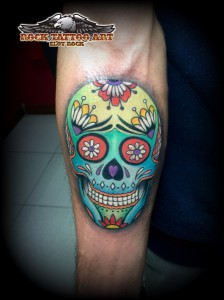 calavera mexicana color